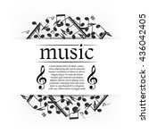 musical background with clef... | Shutterstock .eps vector #436042405