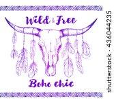 boho chic  ethnic  native... | Shutterstock .eps vector #436044235
