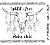 boho chic  ethnic  native... | Shutterstock .eps vector #436044505
