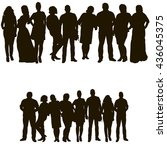 vector  isolated set of people   Shutterstock .eps vector #436045375