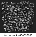 hand drawn business icon set....   Shutterstock .eps vector #436053289