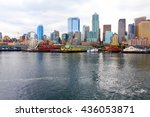 seattle ferris wheel ... | Shutterstock . vector #436053871