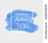 sale weekend 30  off sign over... | Shutterstock .eps vector #436054039