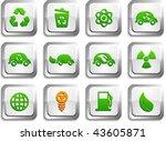 ecology  button set. vector... | Shutterstock .eps vector #43605871