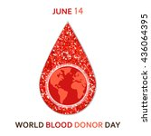 world blood donor day banner... | Shutterstock .eps vector #436064395