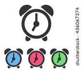 set of alarm clock icons with... | Shutterstock .eps vector #436067374