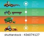 set of the traktors and... | Shutterstock .eps vector #436074127