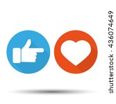 thumbs up  and hearts | Shutterstock . vector #436074649