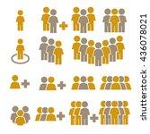 team work  crowd icon set | Shutterstock .eps vector #436078021
