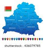 belarus map vector illustration | Shutterstock .eps vector #436079785
