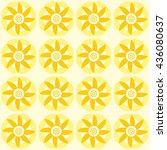 flower tribe art colorful...   Shutterstock .eps vector #436080637