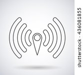 wi fi icon silhouette with...