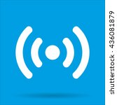 wi fi icon with shadow isolated ...