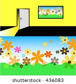 step into spring   vector | Shutterstock .eps vector #436083