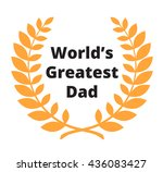 World\'s Greatest Dad Label For...