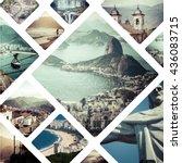 collage of rio de janeiro ... | Shutterstock . vector #436083715