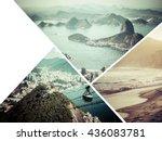 collage of rio de janeiro ... | Shutterstock . vector #436083781