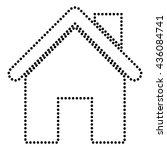 home silhouette illustration | Shutterstock .eps vector #436084741