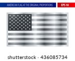 silver american flag in a... | Shutterstock .eps vector #436085734