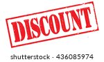 discount grunge stamp  vector... | Shutterstock .eps vector #436085974