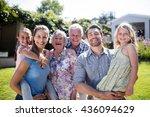 portrait of a multi generation...   Shutterstock . vector #436094629