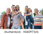 portrait of happy parents... | Shutterstock . vector #436097101