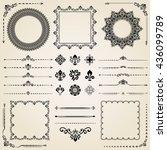 vintage set of elements.... | Shutterstock .eps vector #436099789