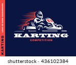 kart racing winner  logo... | Shutterstock .eps vector #436102384