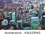 aerial view of a cluster of... | Shutterstock . vector #436103965
