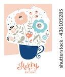 happy birthday card in ... | Shutterstock .eps vector #436105285