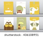 design for  greeting and... | Shutterstock .eps vector #436108951