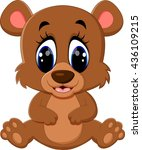 cartoon teddy bear waving hand | Shutterstock .eps vector #436109215