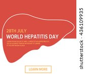 world hepatitis day flat design ... | Shutterstock .eps vector #436109935