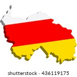 a map of south ossetia 3d on... | Shutterstock .eps vector #436119175