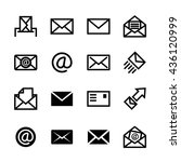 mail icons  set of 16 e mail...