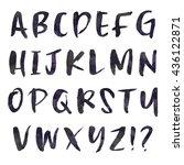 modern brush lettering alphabet  | Shutterstock . vector #436122871