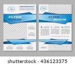 vector flyer template design.... | Shutterstock .eps vector #436123375