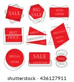 special offer sale tag discount ... | Shutterstock .eps vector #436127911