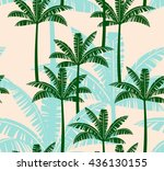 stylized seamless pattern with... | Shutterstock .eps vector #436130155