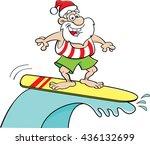 cartoon illustration of santa... | Shutterstock . vector #436132699