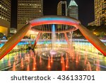 fountain of wealth at singapore | Shutterstock . vector #436133701