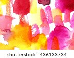bright colorful macro... | Shutterstock . vector #436133734