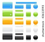 glossy buttons set   Shutterstock .eps vector #43613593