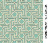 arabic pattern colored seamless ... | Shutterstock .eps vector #436136035