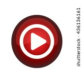 vector button play | Shutterstock .eps vector #436136161