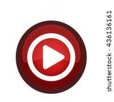 vector button play | Shutterstock .eps vector #436136161