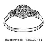 ring sketch. hand drawn ring... | Shutterstock .eps vector #436137451