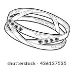 ring sketch. hand drawn ring... | Shutterstock .eps vector #436137535