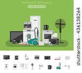 electronics banner with icons... | Shutterstock .eps vector #436138264