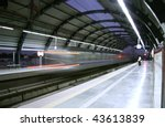 metro zooming past station ... | Shutterstock . vector #43613839